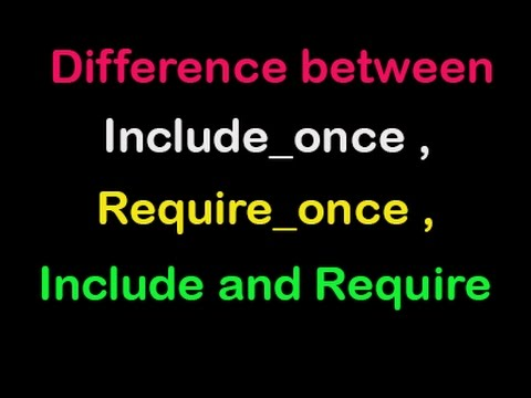 What is include_once and require_once in php | In Hindi/Urdu