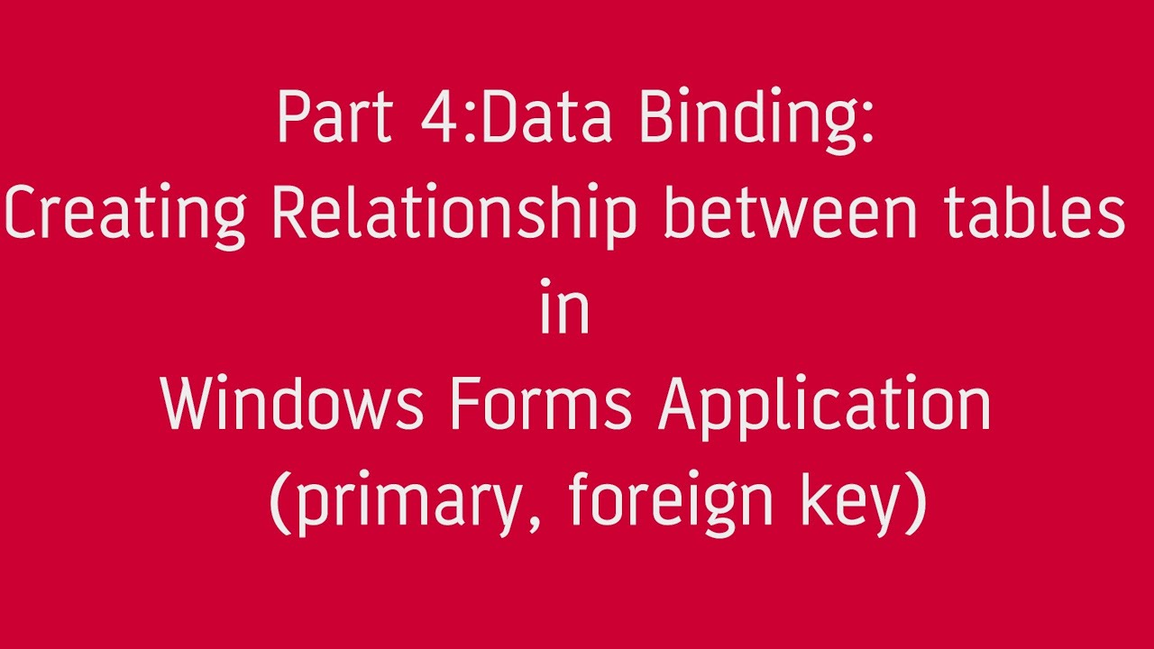 how to find primary key and foreign relationship