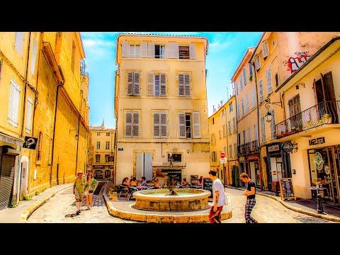 A Walk Through Old Town (Vielle Ville) Of Aix-En-Provence, France