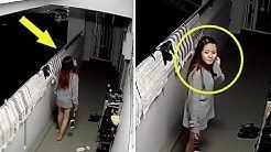Ein Mädchen wusste nicht einmal, dass eine Kamera sie beobachtete, also beschloss sie, dies zu tun