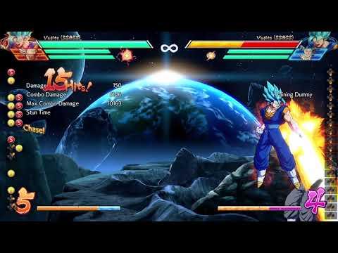 DRAGON BALL FighterZ - Vegito corner solo Sparking combo