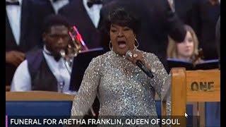 Shirley Caesar And Tasha Cobbs Singing For Aretha Franklin's Funeral