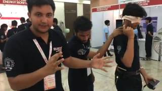 demonstration of project at eyic symposium 2017 at iit bombay