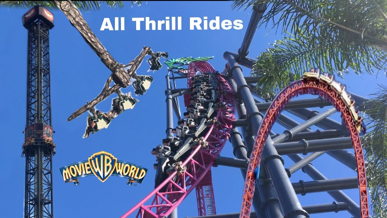 All Thrill Rides 2019 Movie World Gold Coast Australia