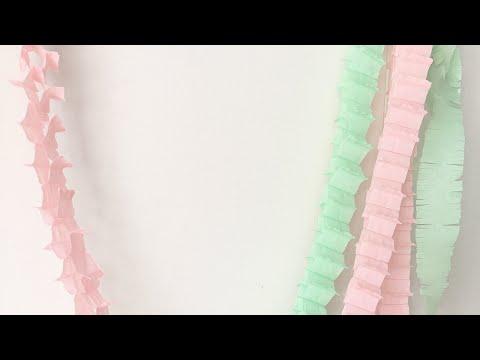Гирлянды из бумаги своими руками из гофрированной бумаги
