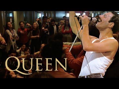 Queen - Bohemian Rhapsody. Choir singing on gate Istanbul airport