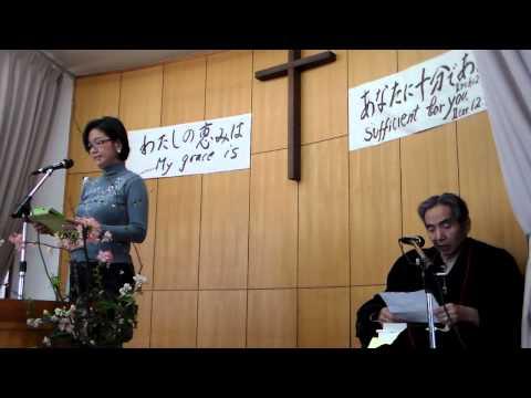 Ms. Joy Solina, sharing her testimony at Kami-Itabashi Evangelical Church, Tokyo
