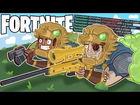 THE GREATEST SNIPER ON FORTNITE?! (Fortnite BR Funny Moments)