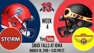 Week 4 | Sioux Falls Storm at Iowa Barnstormers