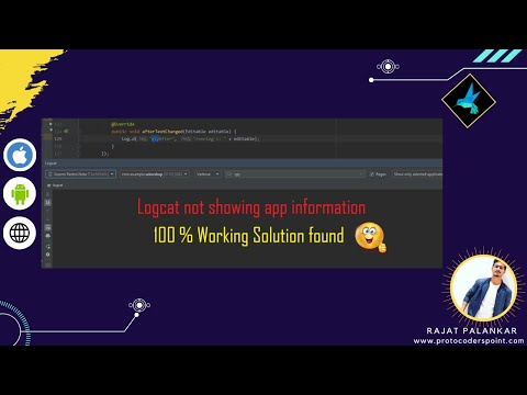 Android studio logcat not working / showing | 100% working solution found