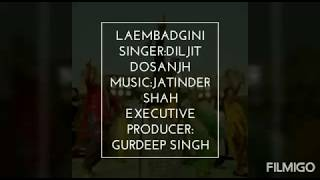 Laembadgini with meaning in English - Diljit Dosanjh