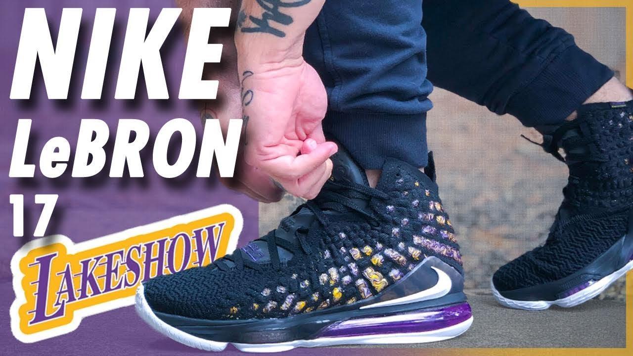 Nike LeBron 17 'Lakeshow' - YouTube