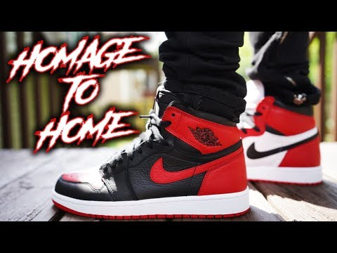 AIR JORDAN 1 HOMAGE TO HOME REVIEW AND ON FEET !!!