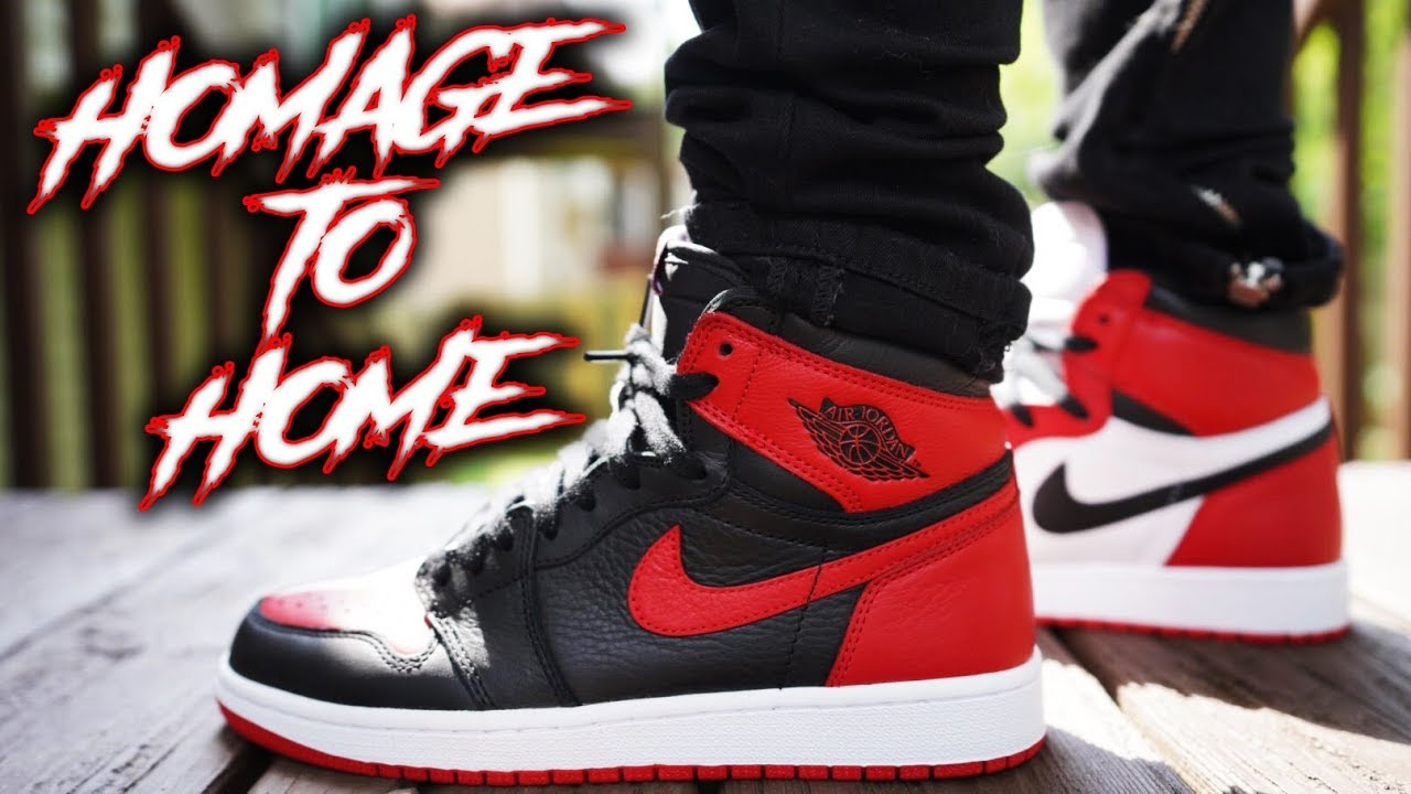 a4888d480a32 AIR JORDAN 1 HOMAGE TO HOME REVIEW AND ON FEET !!! - YouTube