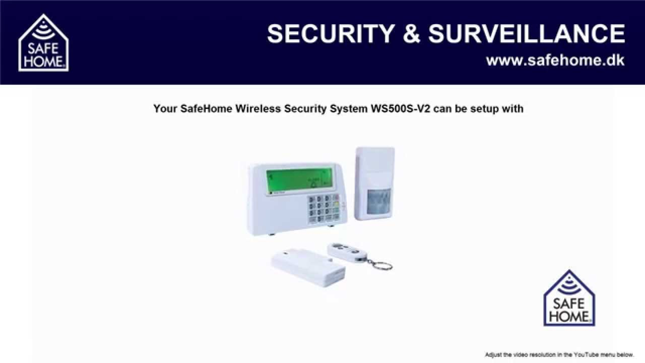 Kæmpestor SafeHome - UK - Video 7 - WS500S-V2 Quick start guide - YouTube DS74