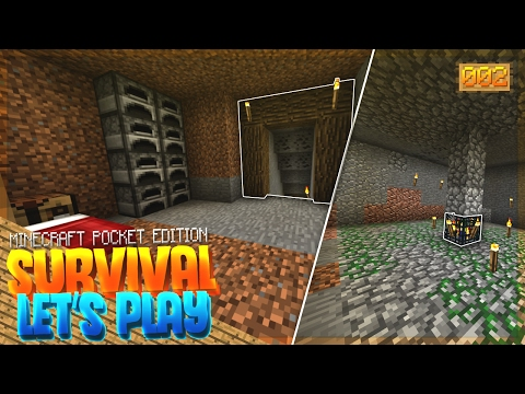 ZOMBIE SPAWNER & MINING!! - MCPE 1.0 Survival Let's Play EP.2 - Minecraft PE (Pocket Edition)