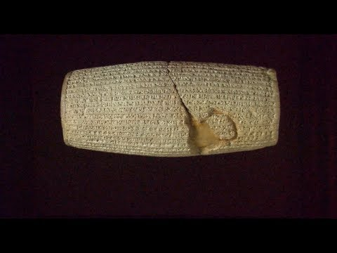 The Cyrus Cylinder from Ancient Babylon and the Beginning of