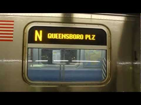 FASTRACK BMT Astoria Line: R160B Siemens N Shuttle Train at Queensboro Plaza (Late Nights)