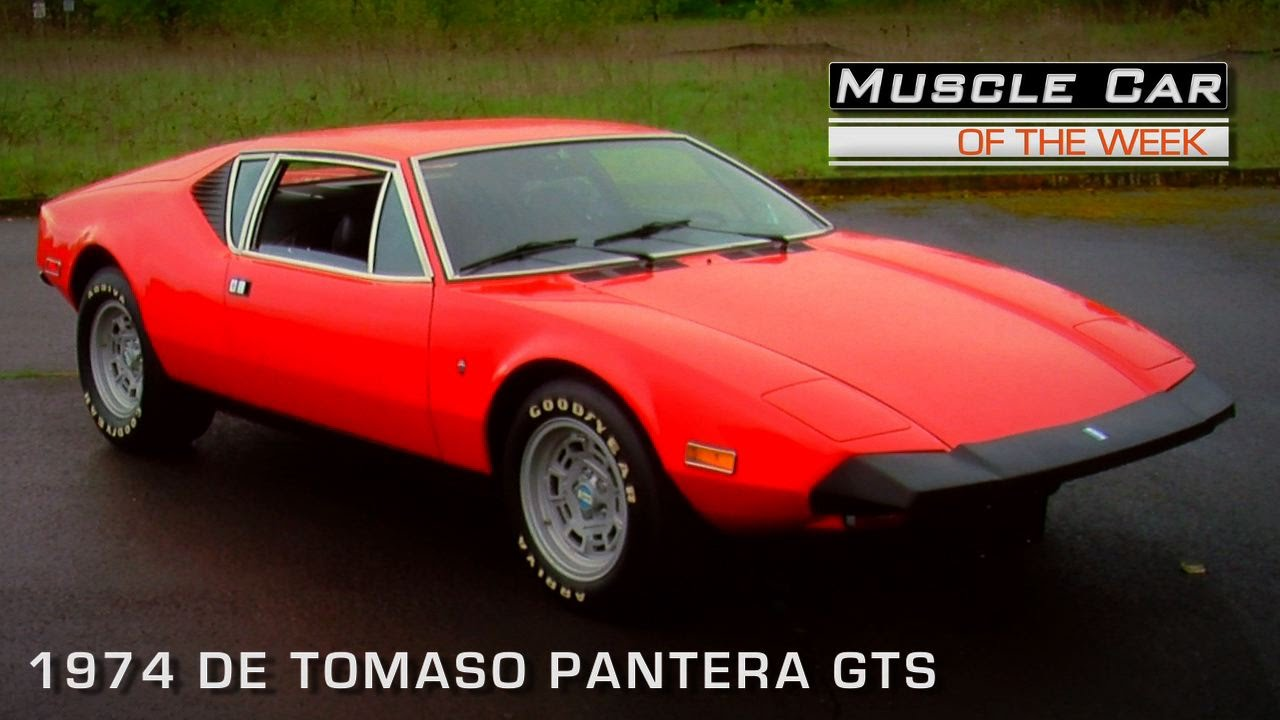 muscle car of the week video 102 1974 de tomaso pantera gts youtube. Black Bedroom Furniture Sets. Home Design Ideas