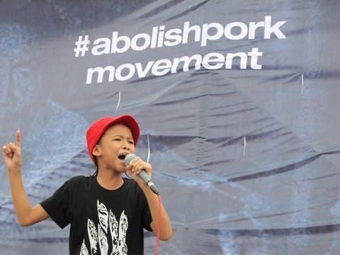 10-year old girl speaks against corruption and pork barrel #AbolishPork