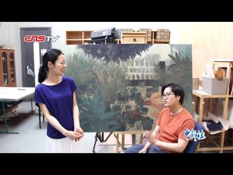 日本姑娘嫁给中国丈夫两人在敦煌临摹壁画