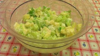Салат из сельдерея с яблоком - 0 холестерина!