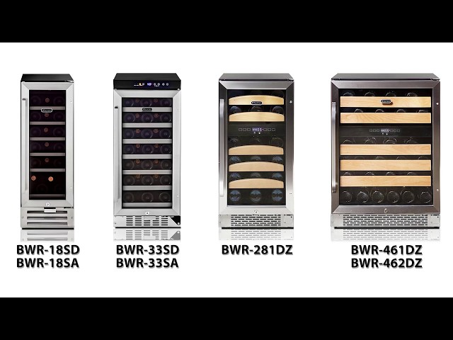 Whynter Built-In Wine Refrigerators featuring Model BWR-281DZ