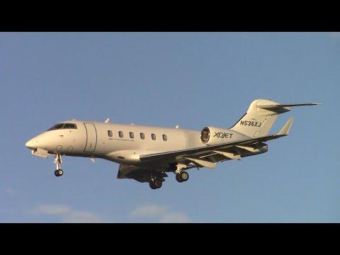 XOJET Bombardier Challenger 300 [N536XJ] landing at Santa Barbara Airport