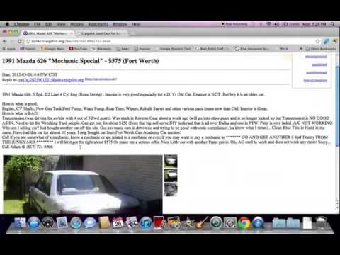 Craigslist Dallas TX Used Cars Online Search Help for ...