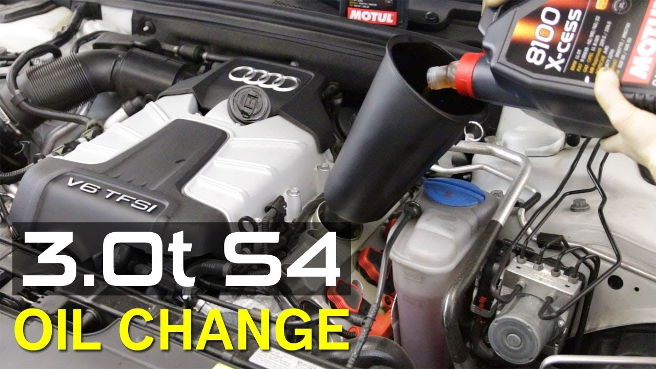 How To Change The Oil On A 30t Audi S4 Youtube