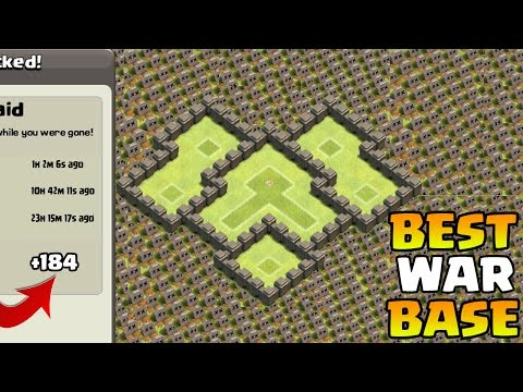 Clash of Clans - BEST Town Hall 4 (TH4) War Base  CoC TH4 Base Layout 2015