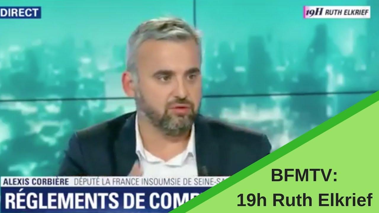 Alexis Corbière chez Ruth Elkrief sur BFMTV - 28/05/2019
