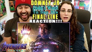 DOWNEY JR. Did NOT WANT To Say His FINAL LINE In ENDGAME - REACTION!!!