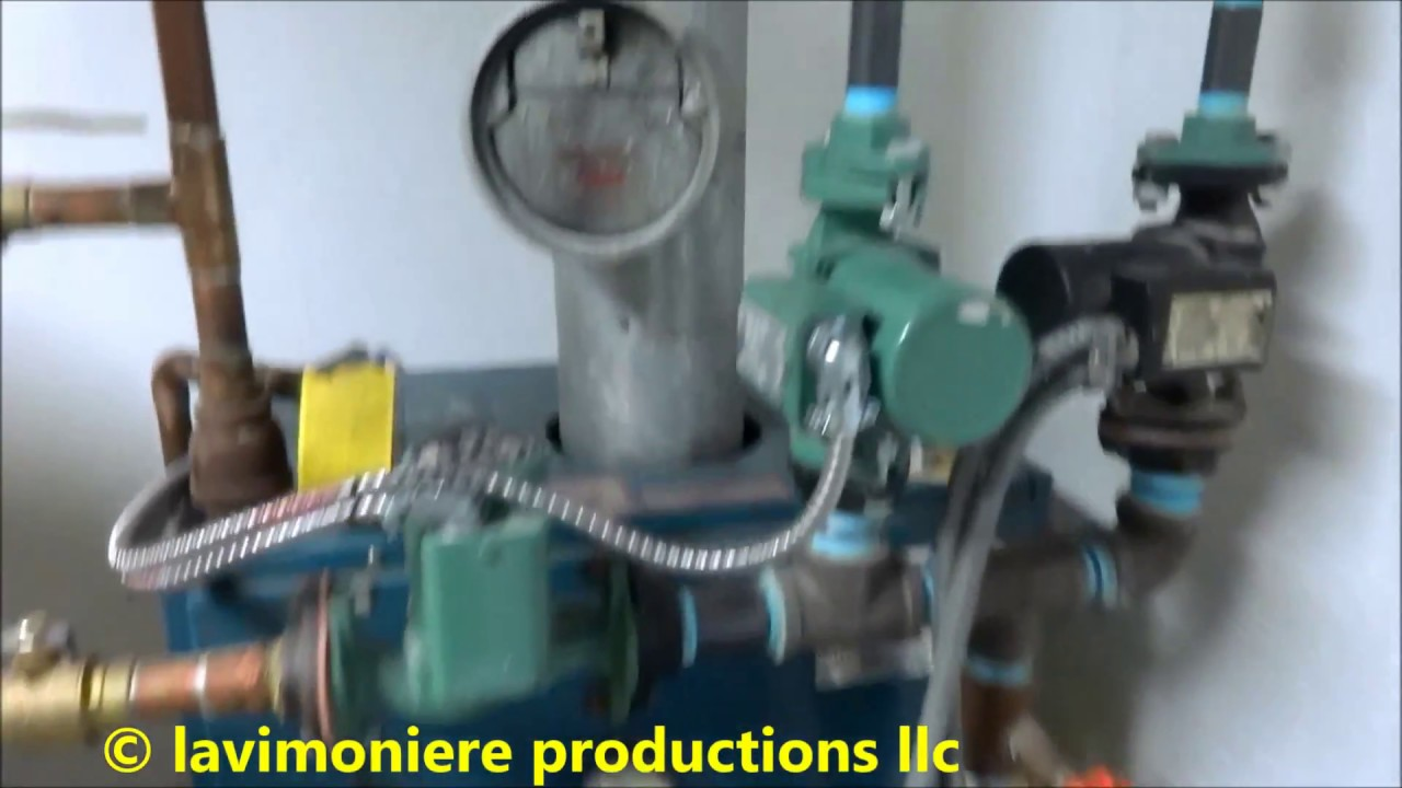 boiler leaking water no domestic hot water - YouTube