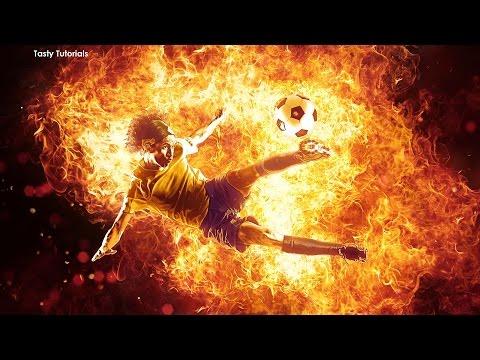 Amazing Fire Flames Photo Effect Photoshop CS6 Tutorial