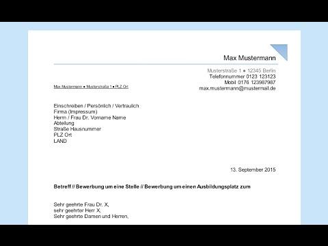 Empfängerfeld Beschriften Professionelles Anschreiben In