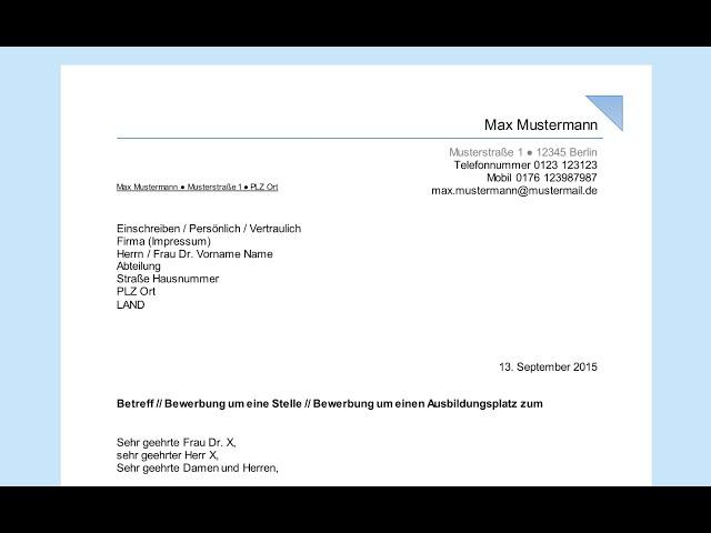 Empfängerfeld Beschriften Professionelles Anschreiben In Word Din