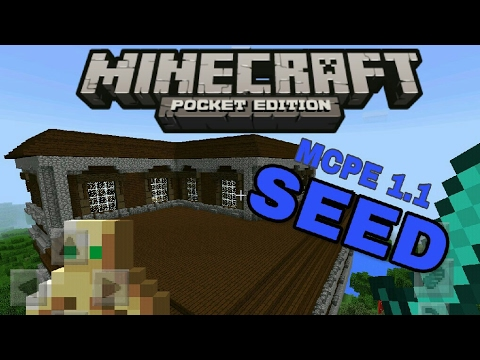 Minecraft PE - Woodland Mansion Seed in MCPE 1.1 (Pocket Edition)