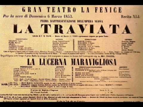 Parigi o Cara La Traviata Verdi live from concert