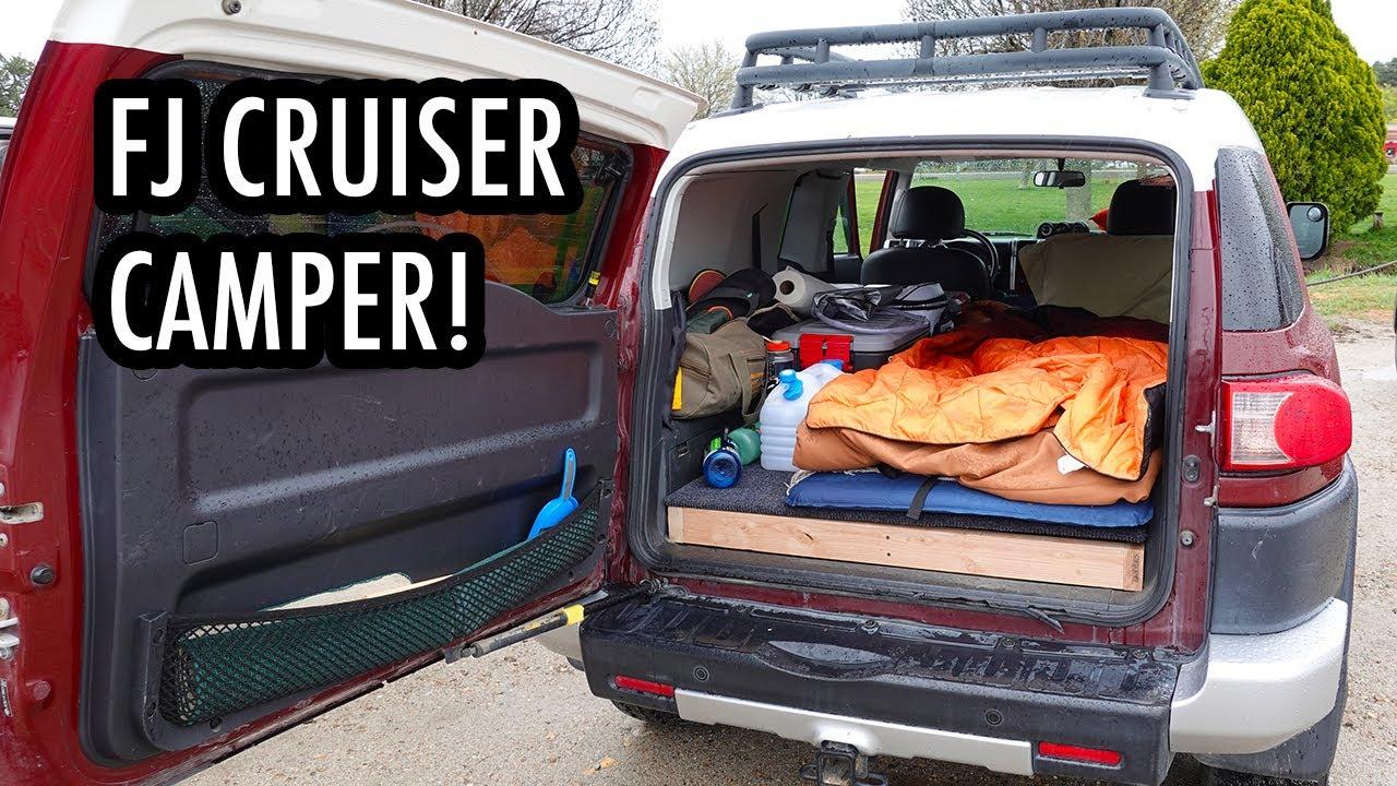 Touring a Toyota FJ Cruiser Camper! (Sleeping Setup/Conversion)