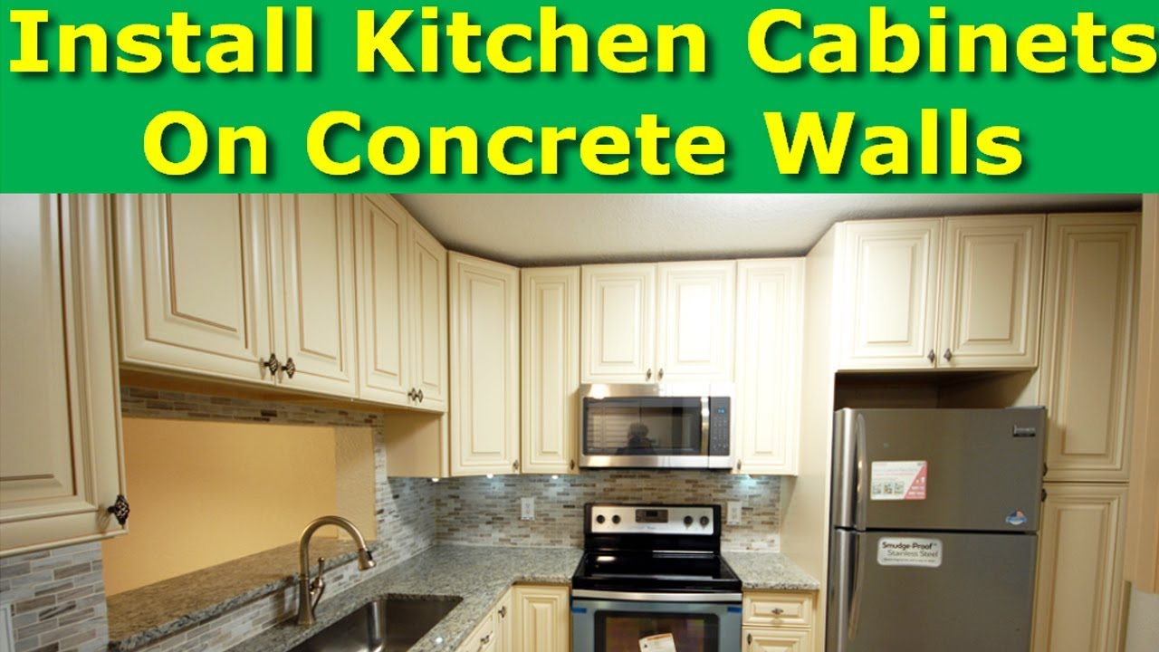 How To Install Kitchen Cabinets On Concrete Brick Walls Drywall
