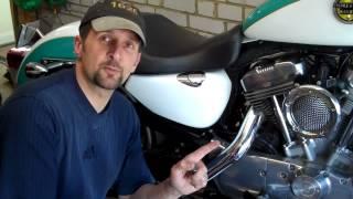 Delboy's Garage, Harley Sportster Rear Brake Pedal Adjustment.