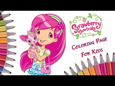 art colors for kids coloring raspberry torte puppy chiffon strawberry shortcake coloring book