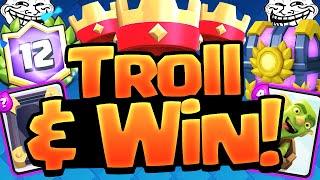 Clash Royale TROLL DECK - Challenge WINNER!