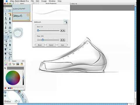 Shoe Design Sketch Demo Youtube