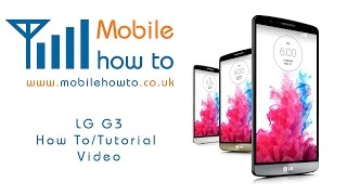 How To Insert & Remove SIM Card - LG G3