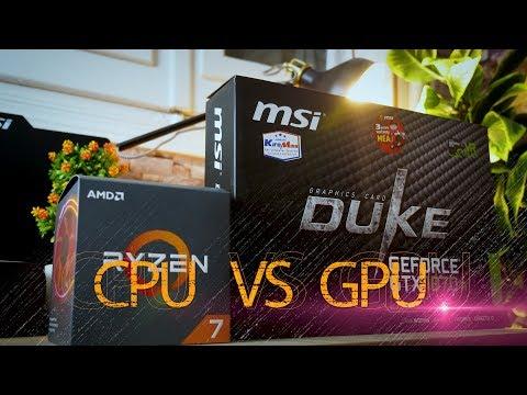 الفرق بين كارت الشاشة و المعالج - CPU Vs GPU