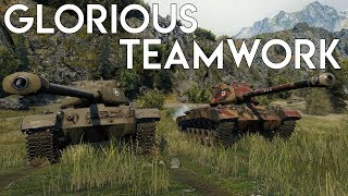 This is what teamwork looks like! - World of Tanks