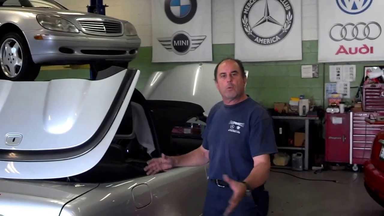 Mercedes Convertible Soft Top Repair Inspect Diagnose Service Culver City Los Angeles