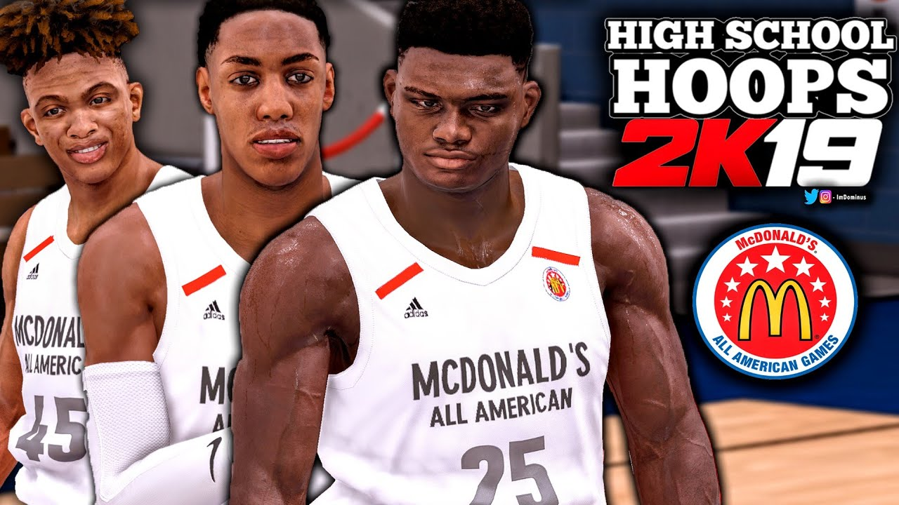 High School Hoops 2K19 MCDONALD S ALL AMERICAN GAME Gameplay! Zion  Williamson a65f744fd